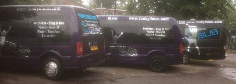 16 Seater Party Bus Hire Fleet